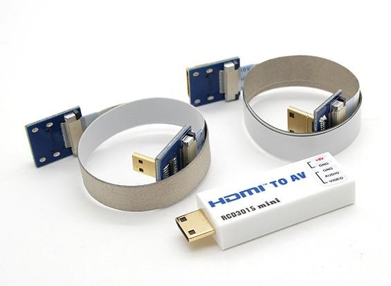 RCD 3015 mini HDMI a AV convertidor de puerto