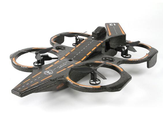 WLToys Q202 2.4G 4 canales 6 Eje portaaviones Triphibious RC Quadcopter W / LED RTF (enchufe de EE.UU.) (Modo 2)