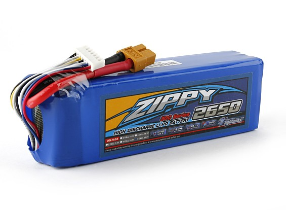 30C ZIPPY Flightmax 2650mAh 6S1P