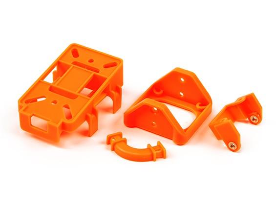 FPV inclinación del montaje de piezas (juego de 4 piezas de plástico para DIY) (Naranja)