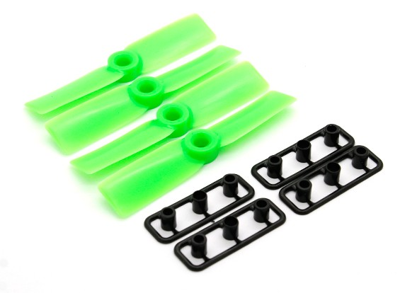 GemFan Bull Nose 3030 Hélices ABS CW / CCW Green Set (2 pares)