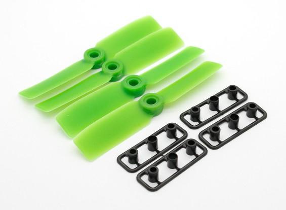 GemFan Bull Nose 3545 Poliéster / Nylon Propulsores CW / CCW Green Set (2 pares)
