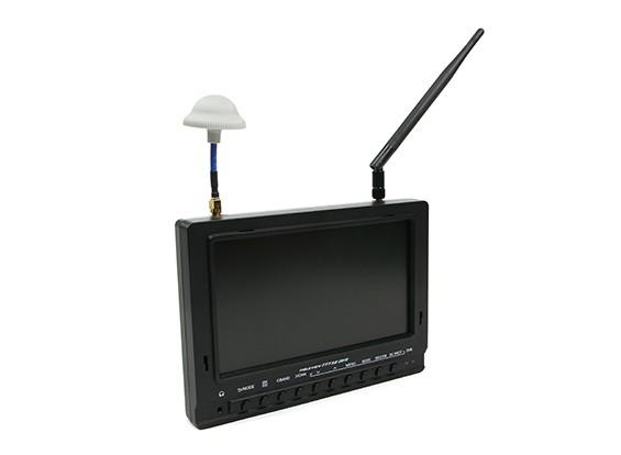 7 pulgadas de 800 x 480 40CH receptor de diversidad Sun legible FPV monitor Fieldview 777SB (enchufe de EE.UU.)