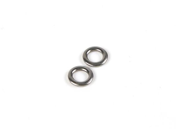 HydroPro Affinity RG65 yate que compite con - escota de mayor anillos de metal (2 unidades)