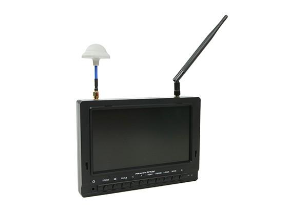 7 pulgadas de 800 x 480 40CH receptor de diversidad Sun legible FPV monitor Fieldview 777SB (Reino Unido (UK Almacén)