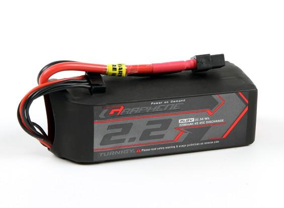 El grafeno Turnigy 2200mAh 45C Lipo 4S paquete w / XT60