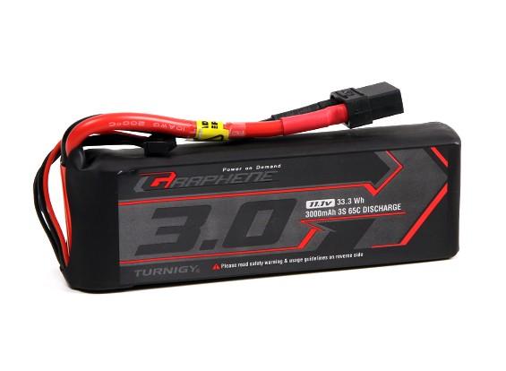 El grafeno Turnigy 3000mAh 3S 65C Lipo paquete w / XT90