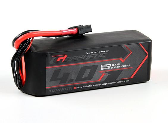 El grafeno Turnigy 4000mAh 6S 45C Lipo paquete w / XT90
