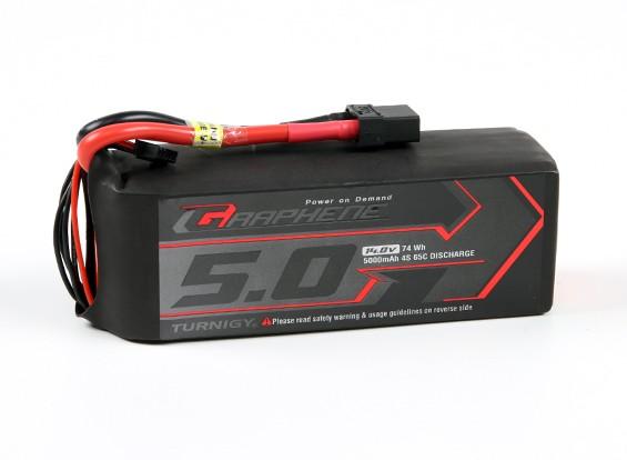 El grafeno Turnigy 5000mAh 65C Lipo 4S paquete w / XT90