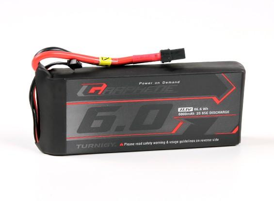 El grafeno Turnigy 6000mAh 3S 65C Lipo paquete w / XT90