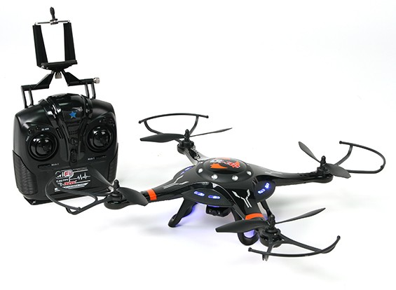 Cheerson CX-32W 2,4 GHz Quadcopter w / 2MP HD de la cámara de WiFi y el modo conmutable transmisor RTF