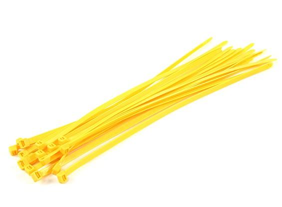 Sujetacables de 350 mm x 7 mm amarillas (20pcs)