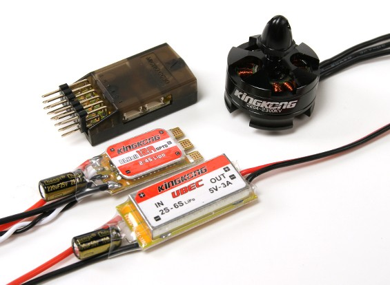 KINGKONG Fuerza 200 4 x 2204-2300kv w / hélices 5x4 (CW y CCW)