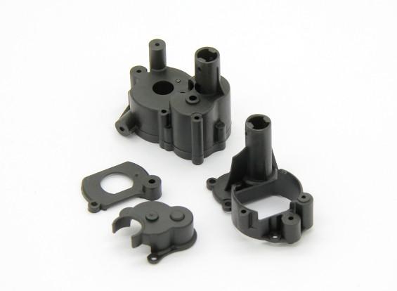 Caja de cambios de vivienda, montaje del motor, la cubierta del motor de la placa (1 unidad) - Basher Rocksta 1/24 4WS Mini Rock Crawler