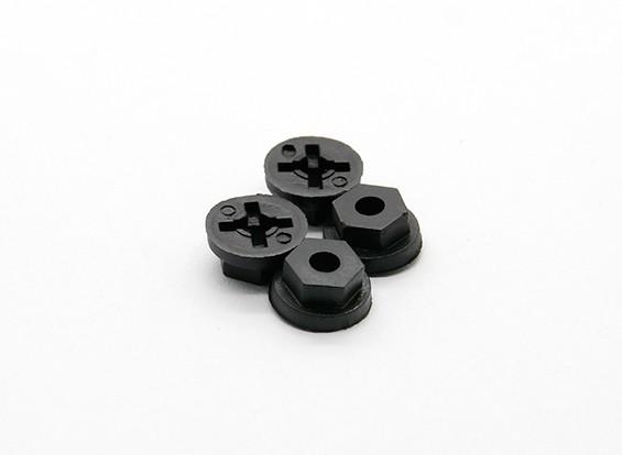 Rueda hexagonal (4pcs) - Basher Rocksta 1/24 4WS Mini Rock Crawler