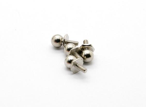 La rótula D (4pcs) - Basher Rocksta 1/24 4WS Mini Rock Crawler