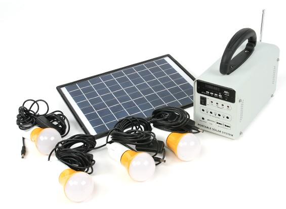 HT-731 Sistema de energía solar w / radio FM