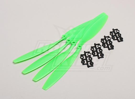 GWS Estilo Slowfly hélice 12x4.5 Verde (CCW) (4pcs)