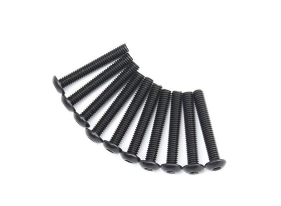Ronda de metal Machine Head Tornillo hexagonal M4x26-10pcs / set