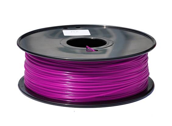 HobbyKing 3D Filamento impresora 1.75mm PLA 1kg Carrete (púrpura)