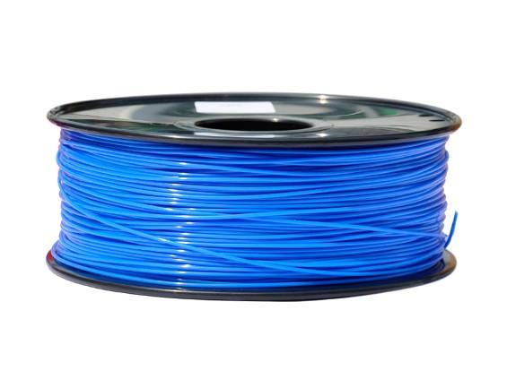 HobbyKing 3D Filamento impresora 1.75mm PLA 1kg Carrete (azul brillante)
