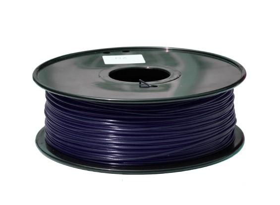 HobbyKing 3D Filamento impresora 1.75mm PLA 1kg Carrete (azul oscuro)