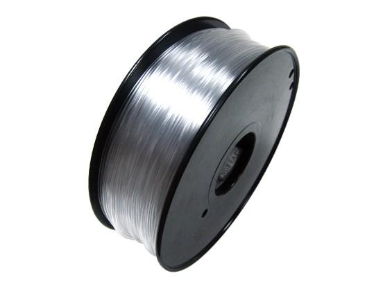 HobbyKing 3D Filamento Impresora 1,75 mm 0,8 kg flexible Carrete (transparente)