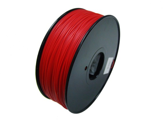 HobbyKing 3D Filamento impresora 1.75mm HIPS 1.0kg Carrete (Sólido Rojo)