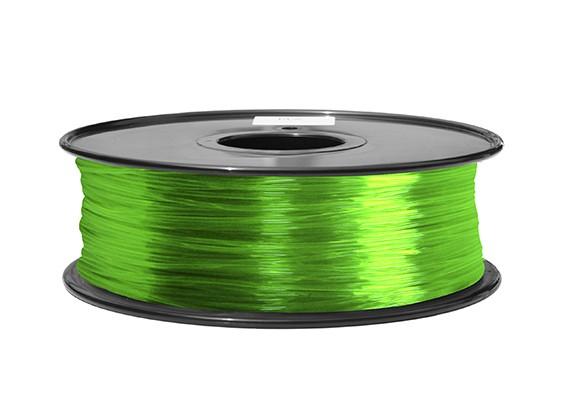 HobbyKing 3D Filamento impresora 1.75mm ABS 1kg Carrete (Transparente Verde)