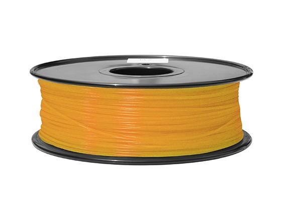 HobbyKing 3D Filamento impresora 1.75mm ABS 1kg Carrete (fluorescente naranja)