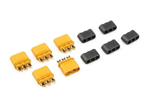 MR30 - 2.0mm Pin 3 Motor de ESC Conector (30A) Hombre Solo (5 sistemas / bolsa)