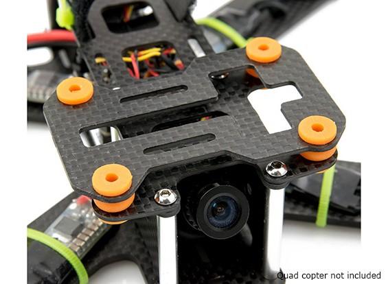 Lumenier QAV180 / 210 de fibra de carbono de la vibración de la cámara de amortiguación Plate (GoPro y Mobius)