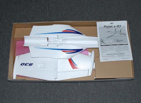 SCRATCH / DENT Flyjet X-83 empujador o 64mm 830mm EDF (KIT)