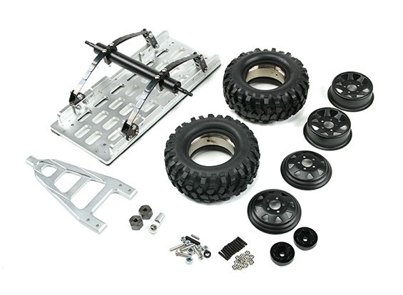 1/10 Car Hauler metal Remolque (Kit)