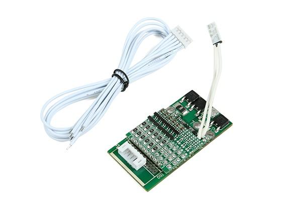 Sistema de gestión de la batería BMS 6S (LiPoly) 4A de carga / descarga 10A