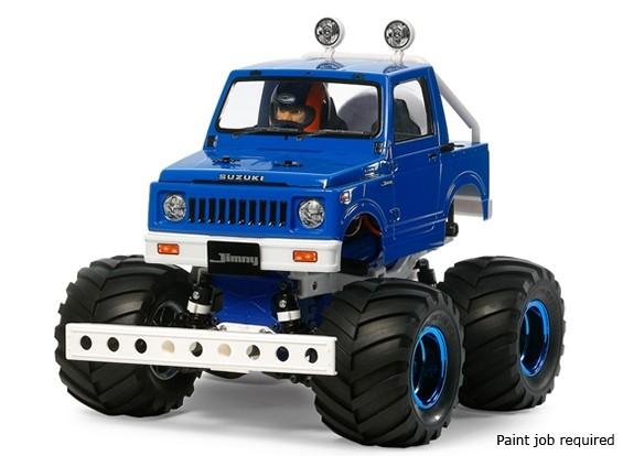 Tamiya 1/10 escala Suzuki Jimny (SJ30) Sobre ruedas traseras Kit Estilo Azul 58576