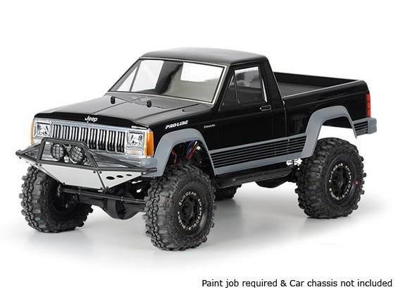 """Pro-Line Jeep Comanche cama completo Claro cáscara del cuerpo 1/10 de 12.3 """"Distancia entre ejes rastreadores Escala"""