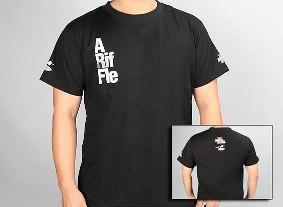 flitetest camiseta - Un Rifle ARF - Negro (grande)