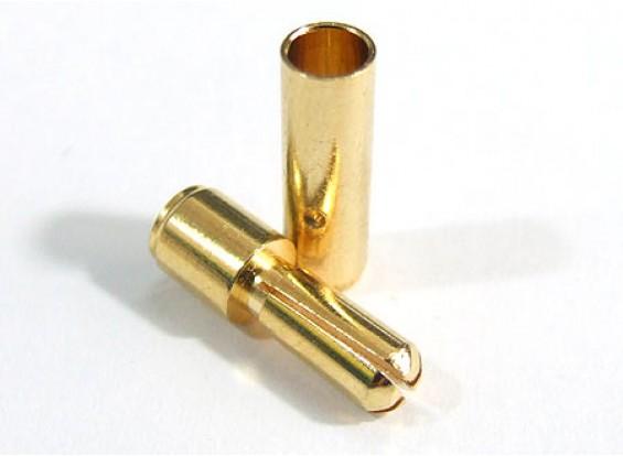 3,5 mm chapado en oro conector de resorte (10pair / 20pc)