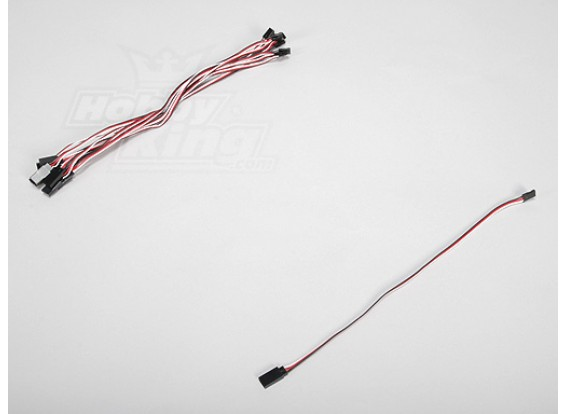 30CM Servo plomo (Futaba) 32AWG Ultra Light (10pcs / set)