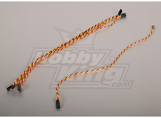 Twisted 45CM Servo Extensión de plomo (JR) 22 AWG (5pcs / bolsa)