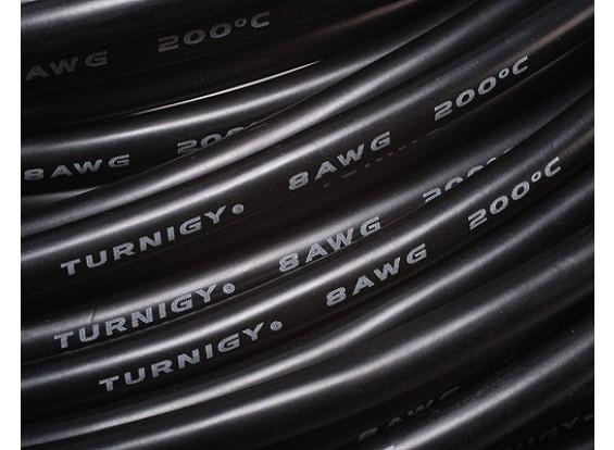 Turnigy Pure-silicona alambre 8AWG 1m (Negro)