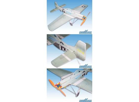 Blue Arrow P51D Choque Flyer kit (gratis Publica)