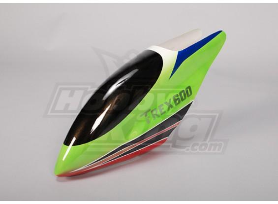 Canopy de fibra de vidrio para Trex-600 eléctrico