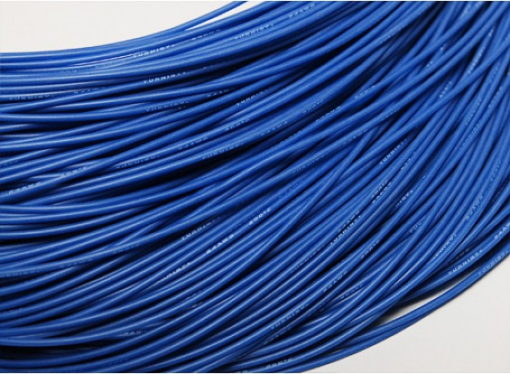 Turnigy Pure-silicona de alambre 24 AWG 1m (azul)