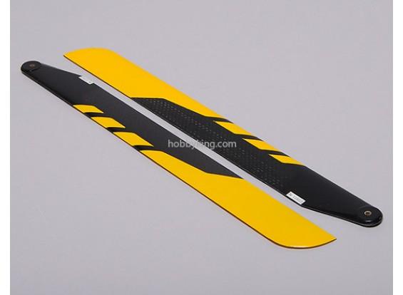 325mm fibra de carbono principal Blades (amarillo)