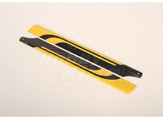 325 mm de fibra de carbono principal de la lámina (1 par)