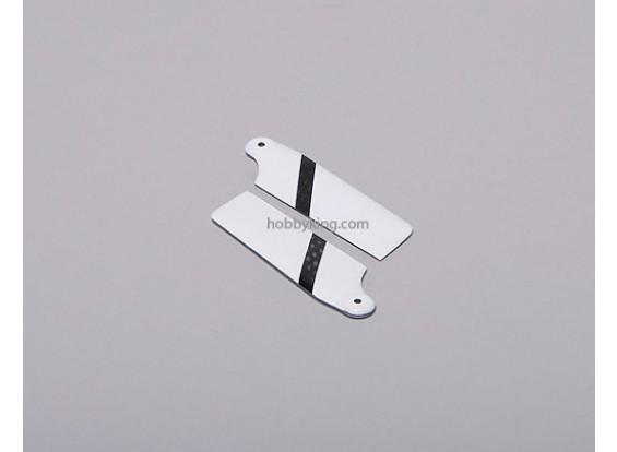 60 mm de fibra de carbono lámina de la cola (1 par)