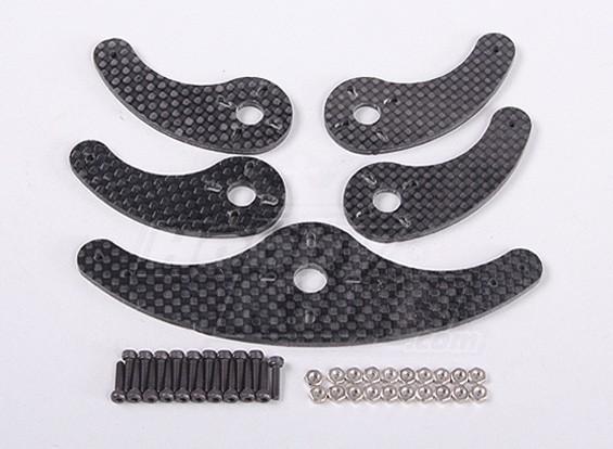 La fibra de carbono Extensiones de brazo del servo (5 piezas)