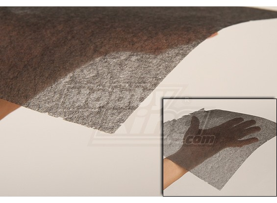 El tejido de fibra de carbono (10 g Fine / m2) 1mtr